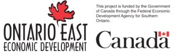 Ontario East Economic Development and Government of Canada logos