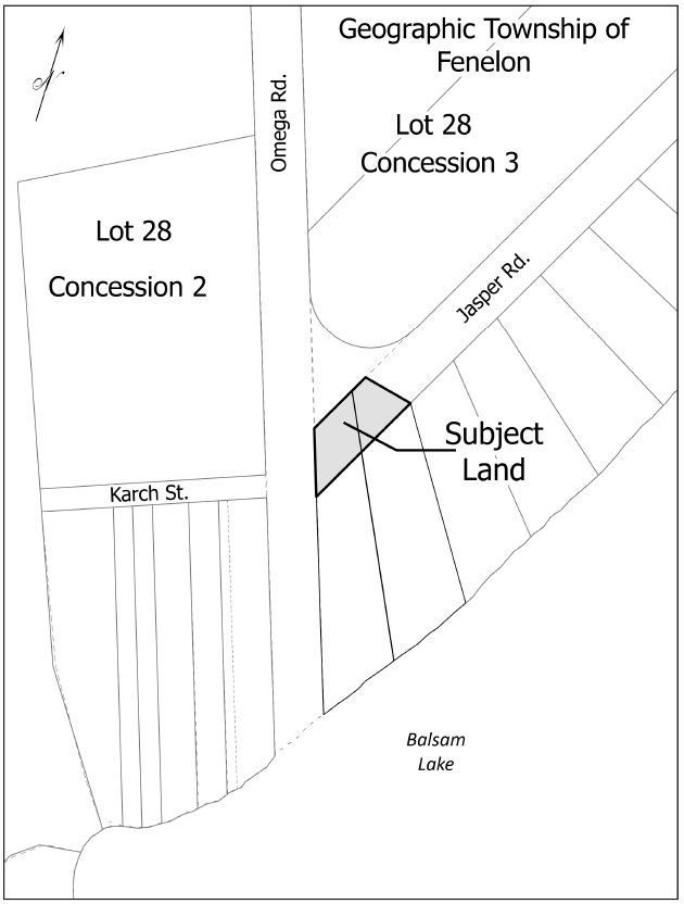 Map of Road Allowance Adjacent to 2 Omega Road and 2 Jasper Drive