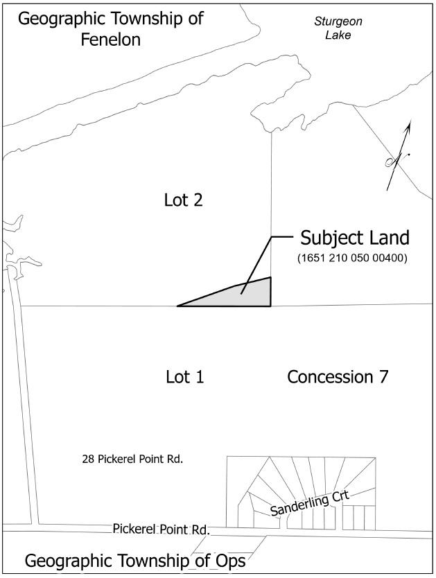Map of Landlocked Parcel adjacent to 28 Pickerel Point Road