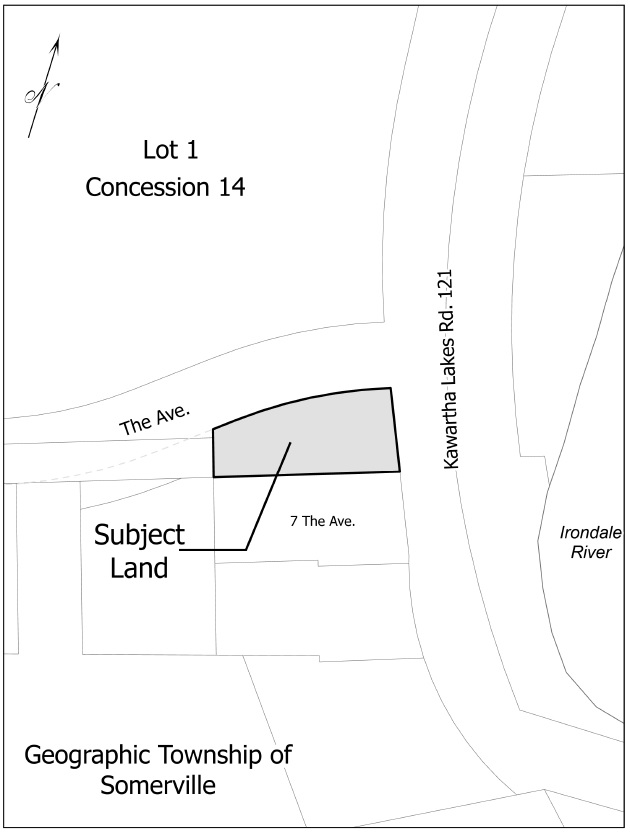 Map of Road Allowance adjacent to 7 The Avenue