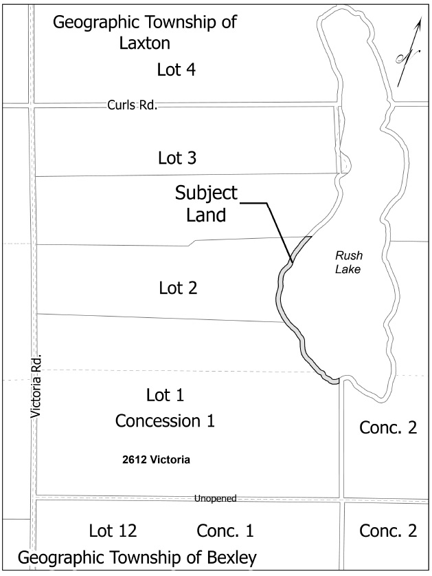 Map of Shoreline Road Allowance adjacent to 2612 Victoria Road