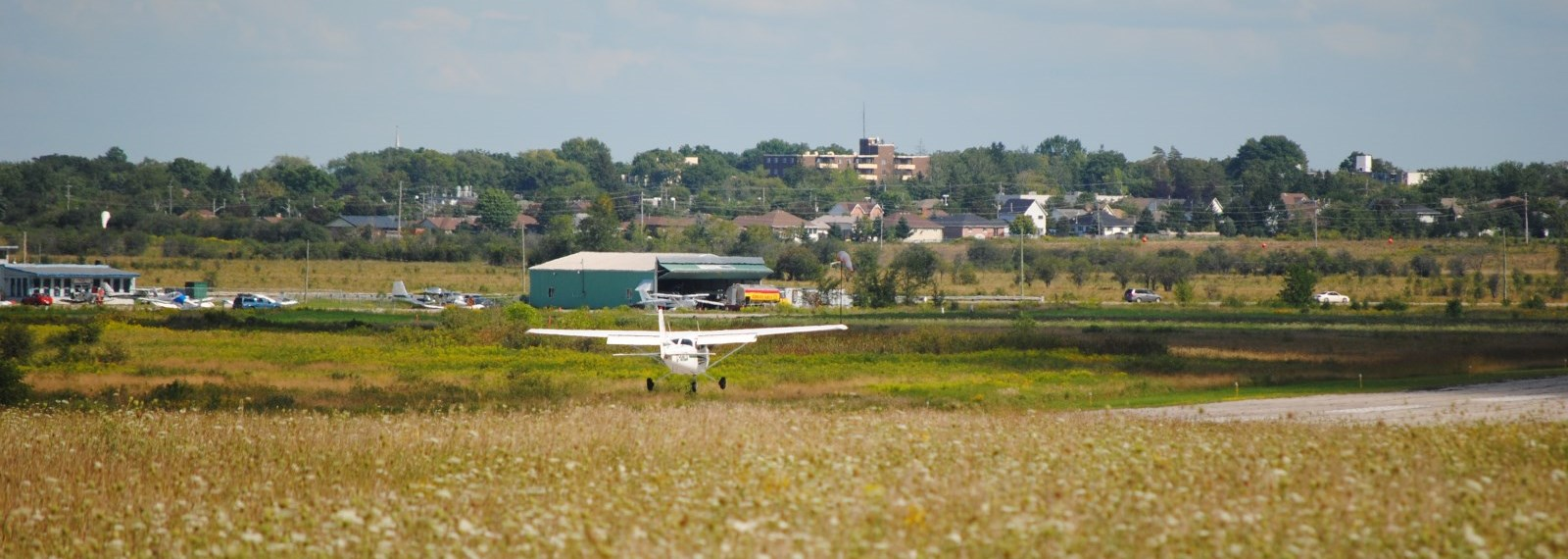 plane taking off at Kawartha Lakes Airport