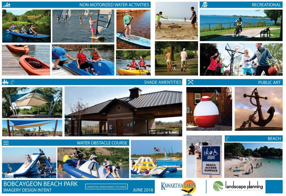Bobcaygeon Beach Park Imagery Design Intent Board 2