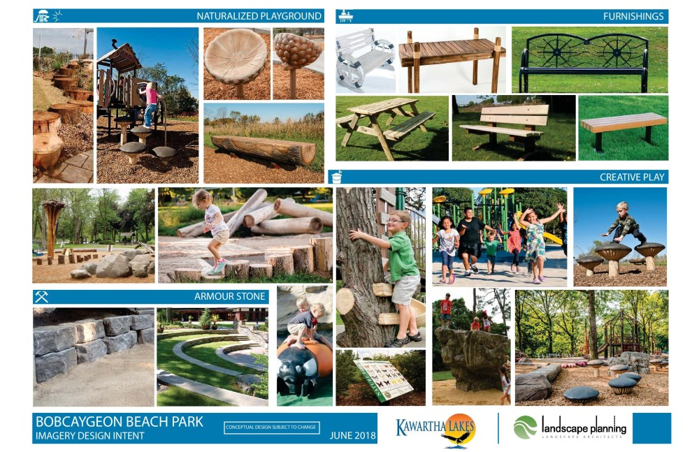 Bobcaygeon Beach Park Imagery Design Intent Board 3