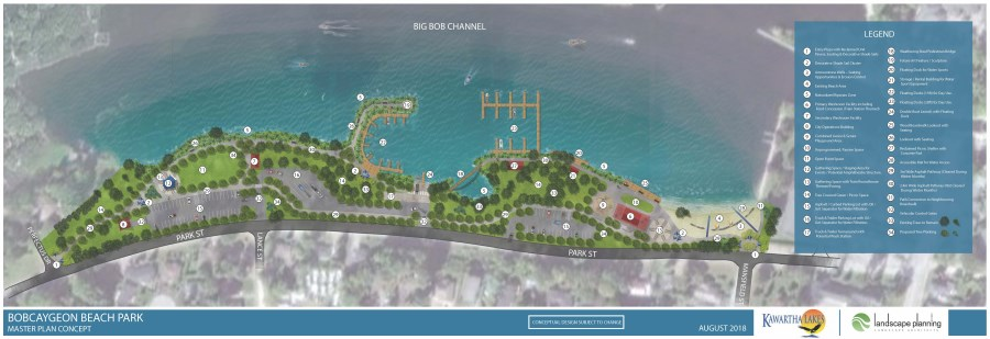 Bobcaygeon Beach Park Redevelopment Master Plan Concept Update Dec 2018