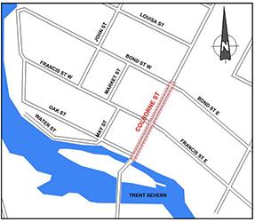 Map of Colborne Street in Fenelon Falls