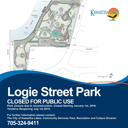 Logie Street Park Redevelopment Closed for Public Use