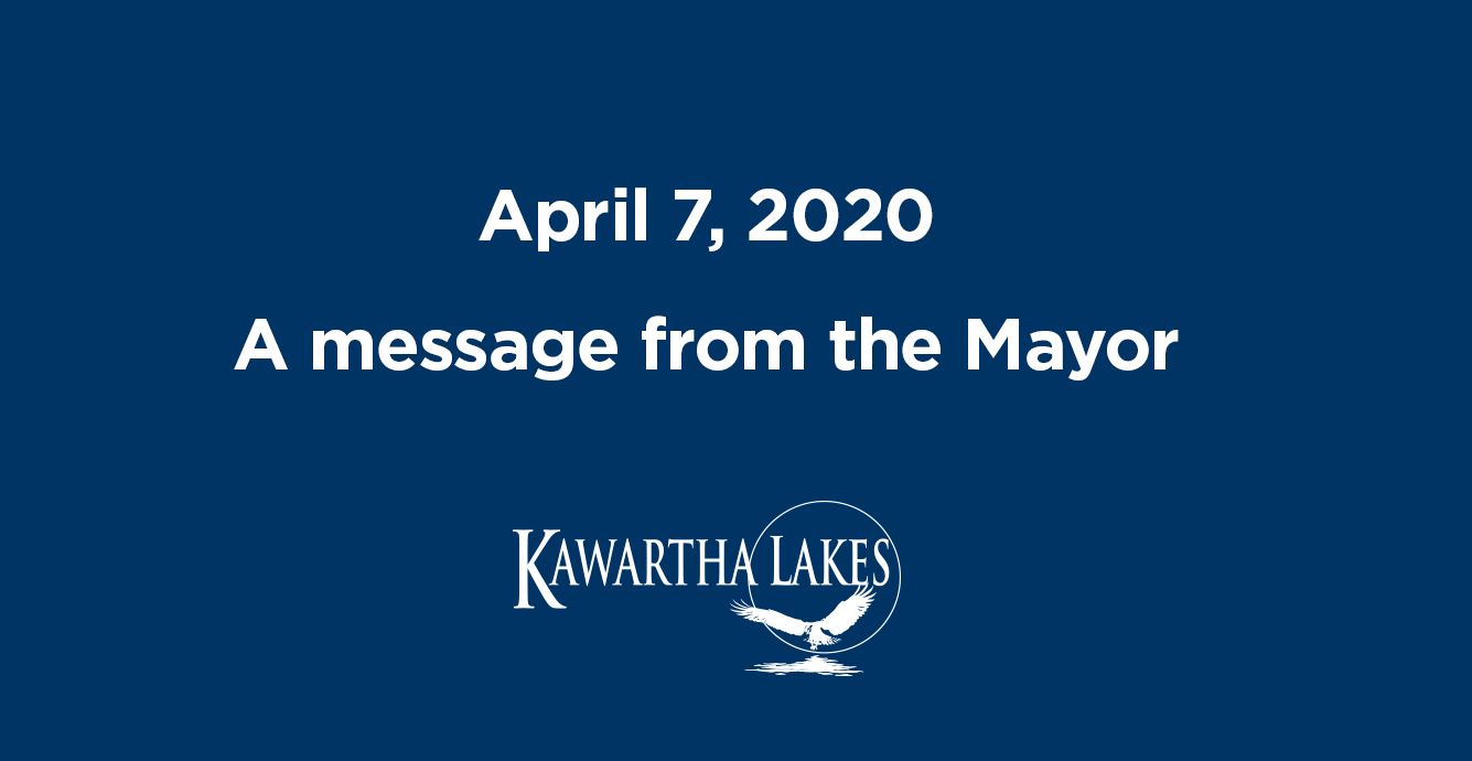 April 7 a message from the mayor