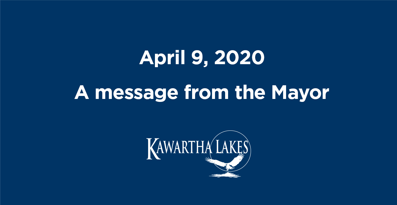 April 9 Message from the Mayor