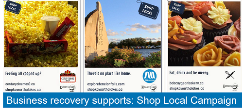 sample ads from Shop Local campaign