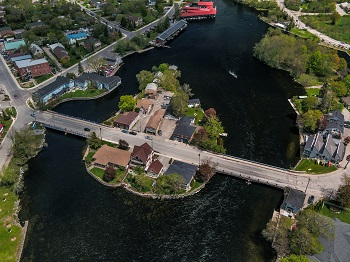 aerial view of Bobcaygeon