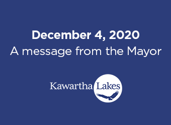 December 4, 2020. A message from the Mayor