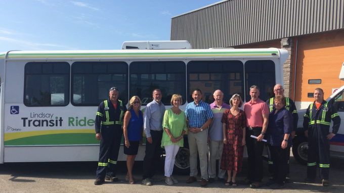 Government officials and staff at Kawartha Lakes Transit