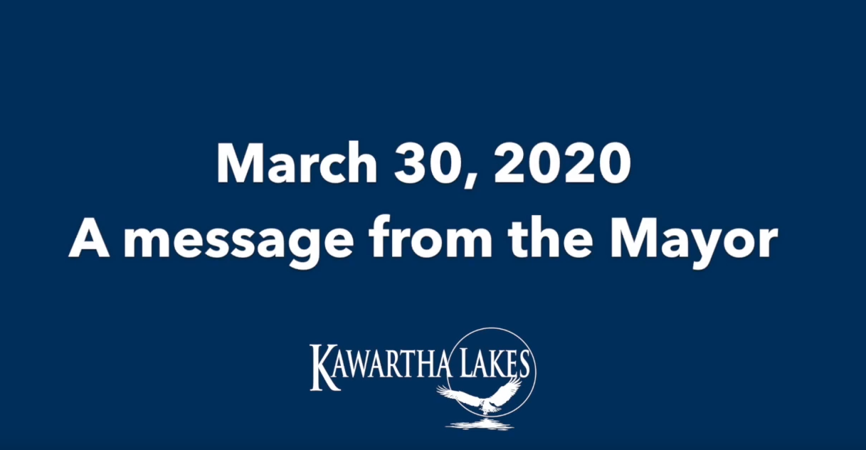 March 30 Message from the Mayor