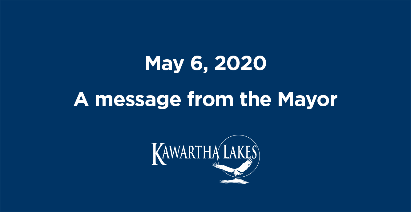 May 6, 2020. A message from the Mayor