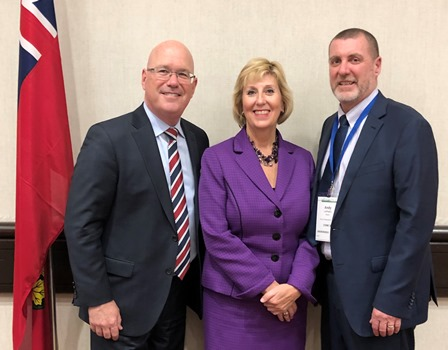 Mayor Letham with Ministers Scott and Clark