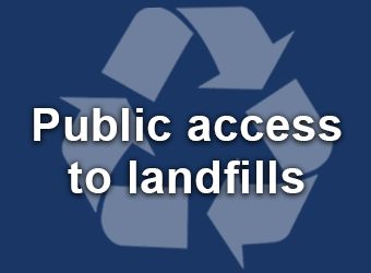 Public access to landfills sign