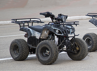 Image of an ATV on a road