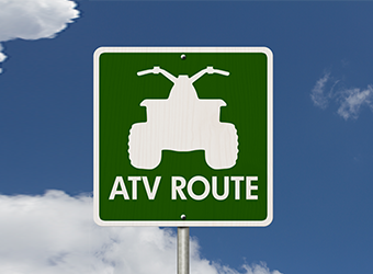 Municipal sign of an ATV route