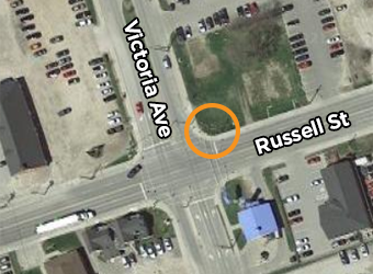 Visual of Russell Street and Victoria Ave
