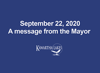 September 22 Message from the Mayor