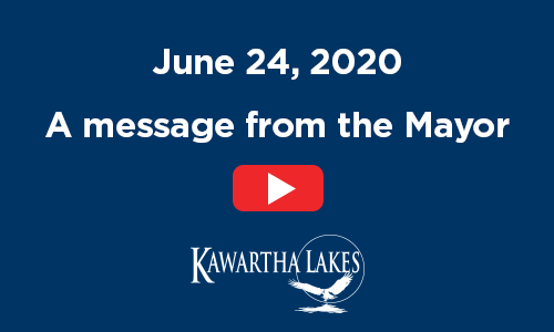 June 24, 2020. A message from the Mayor