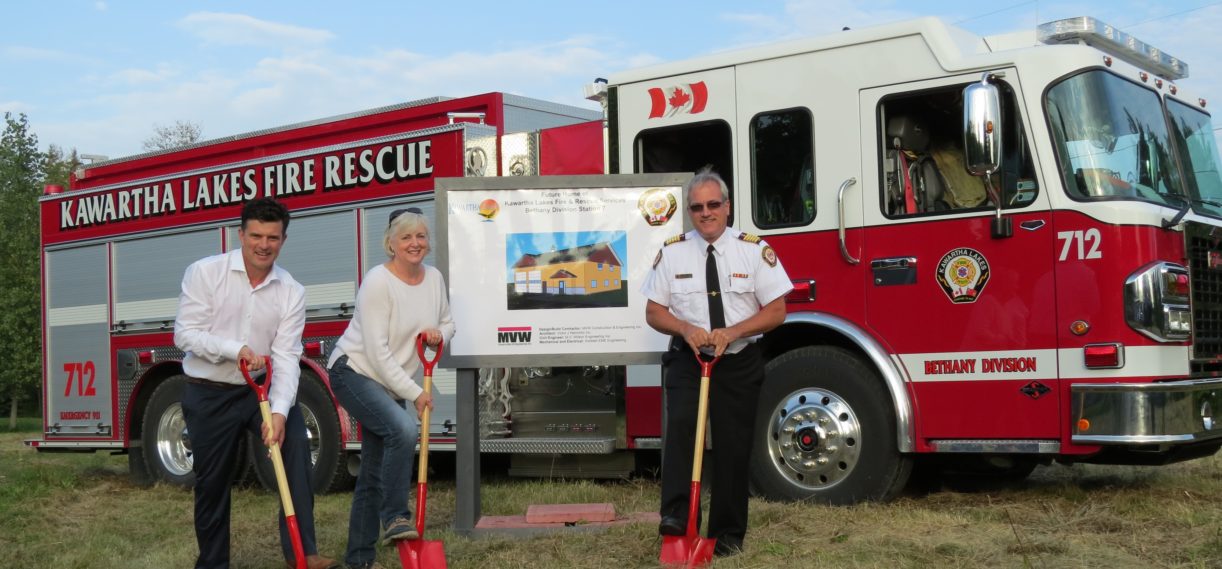 Bethany Fire Hall ground breaking