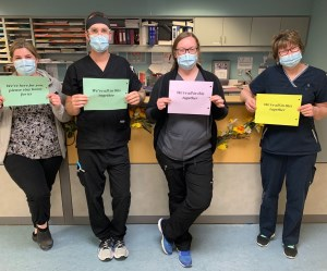 Nurses at Ross Memorial - Please stay home