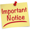 Note saying Important Notice