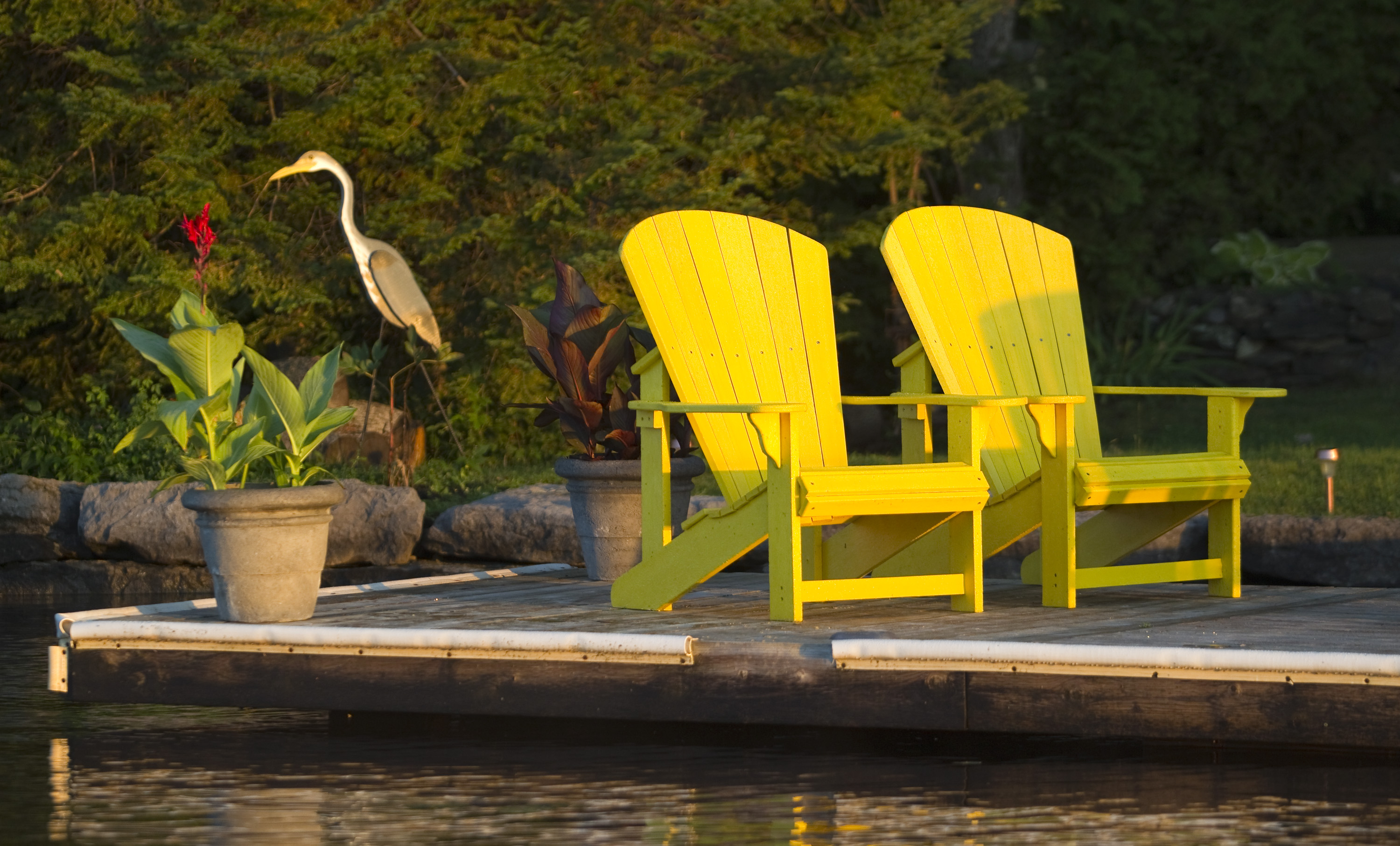 Two chairs on a dock