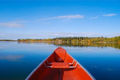 Fall canoe