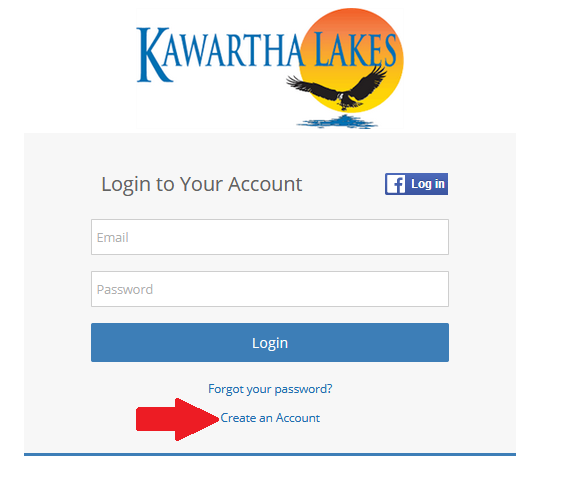 Create an Account Screenshot