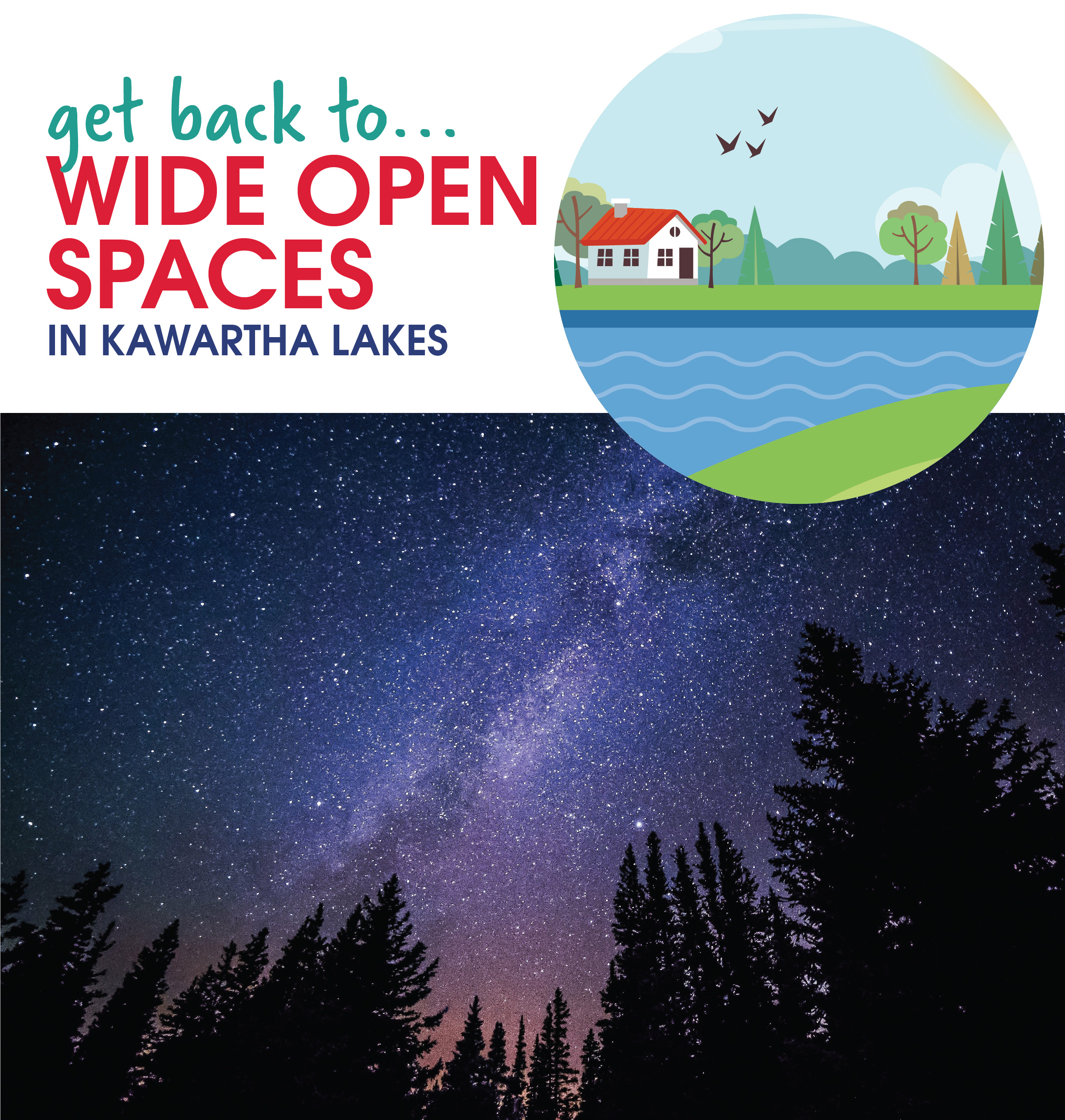 Get back to wide open spaces in Kawartha Lakes