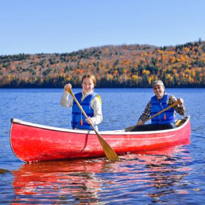 Fall canoeing